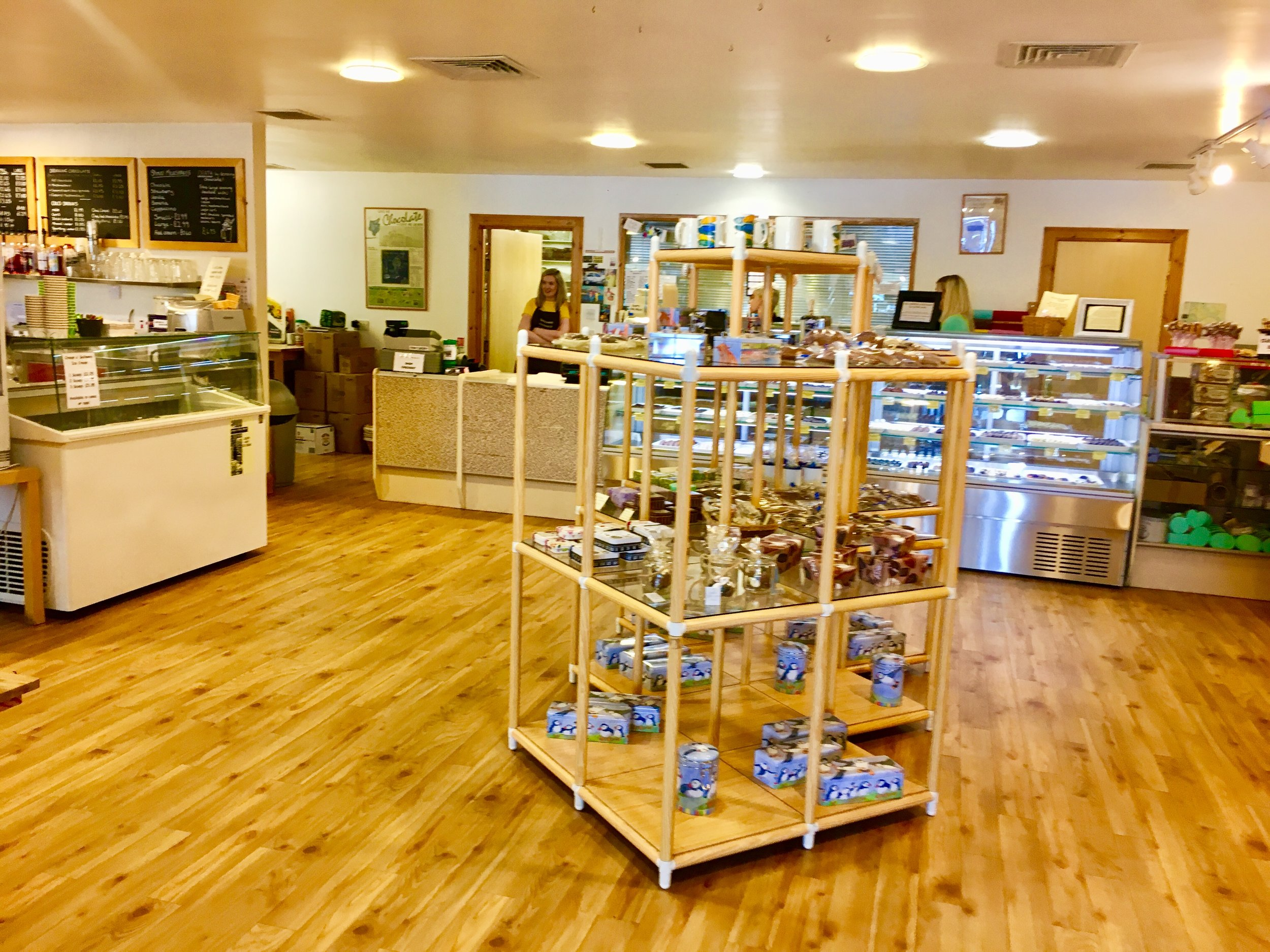 Besides being able to buy their chocolates, there is a cozy cafe to settle in and taste and drink all Tobermory Handmade Chocolate has to offer.