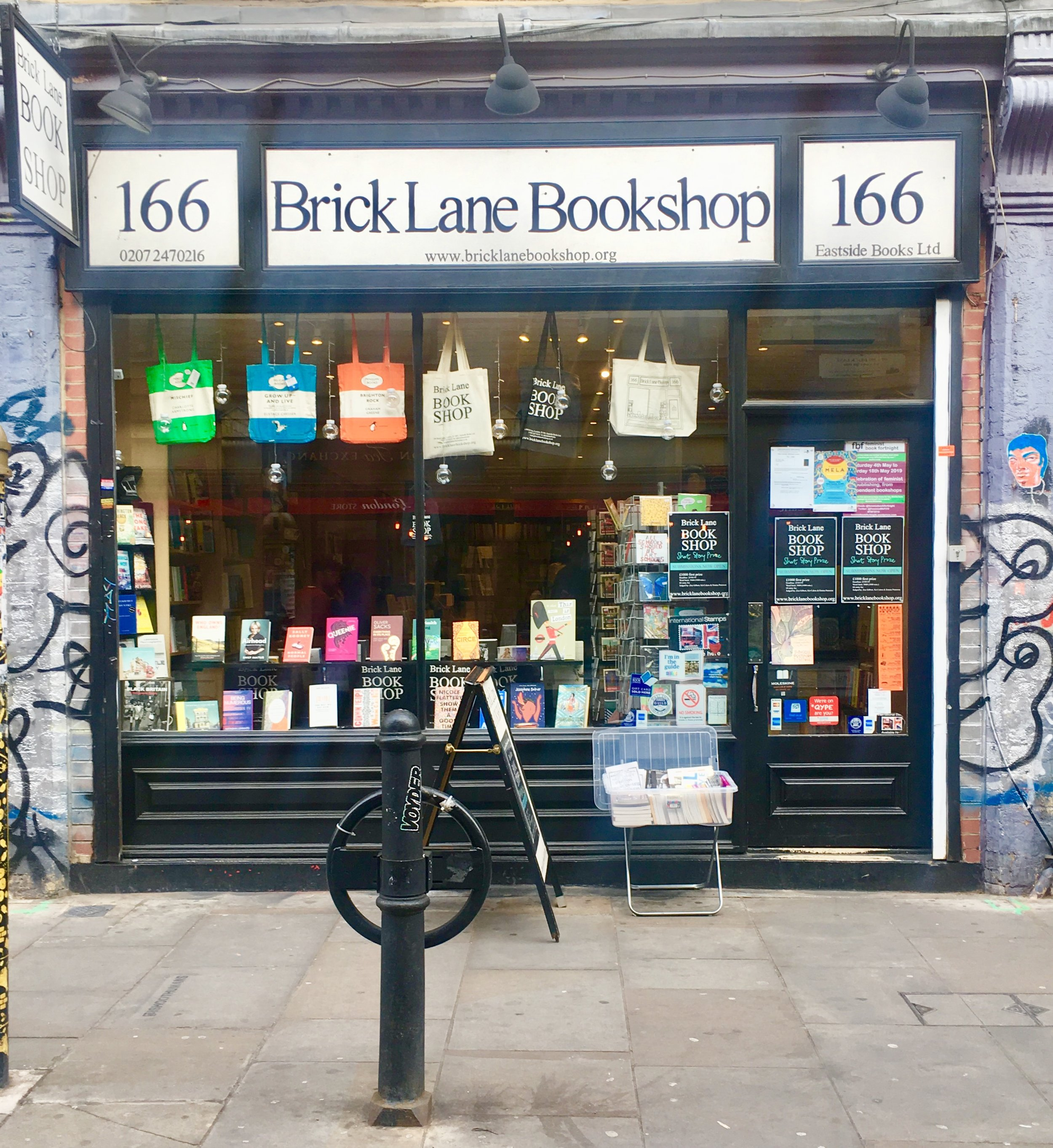 Brick Lane Bookshop  provides Shoreditch the local neighborhood bookshop experience for over thirty years. 166 Brick Lane, Shoreditch, London, UK.