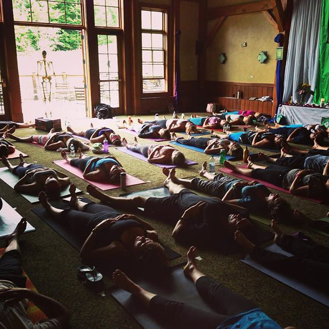 Wanderlust is always amazing and I absolutely love teaching there. Can you spot the skeleton? @wanderlustfest #bestsummerever, #yogarocks, #anatomy, #wanderlust, #yoga
