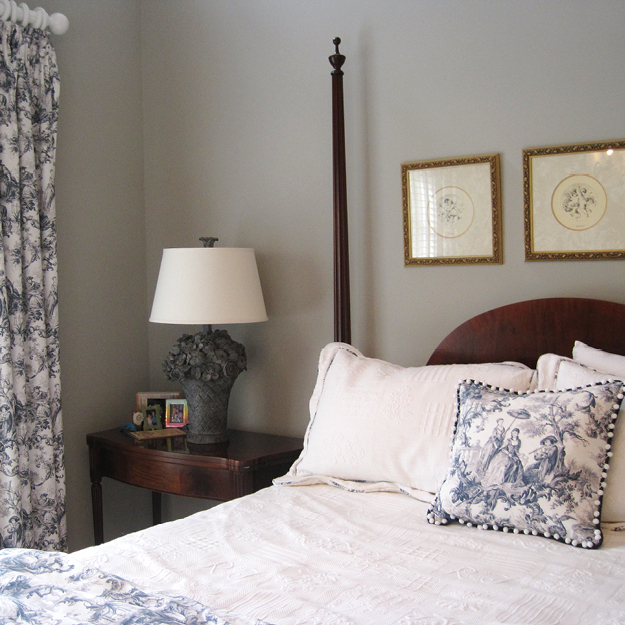 Floral Trail Toile Bedroom