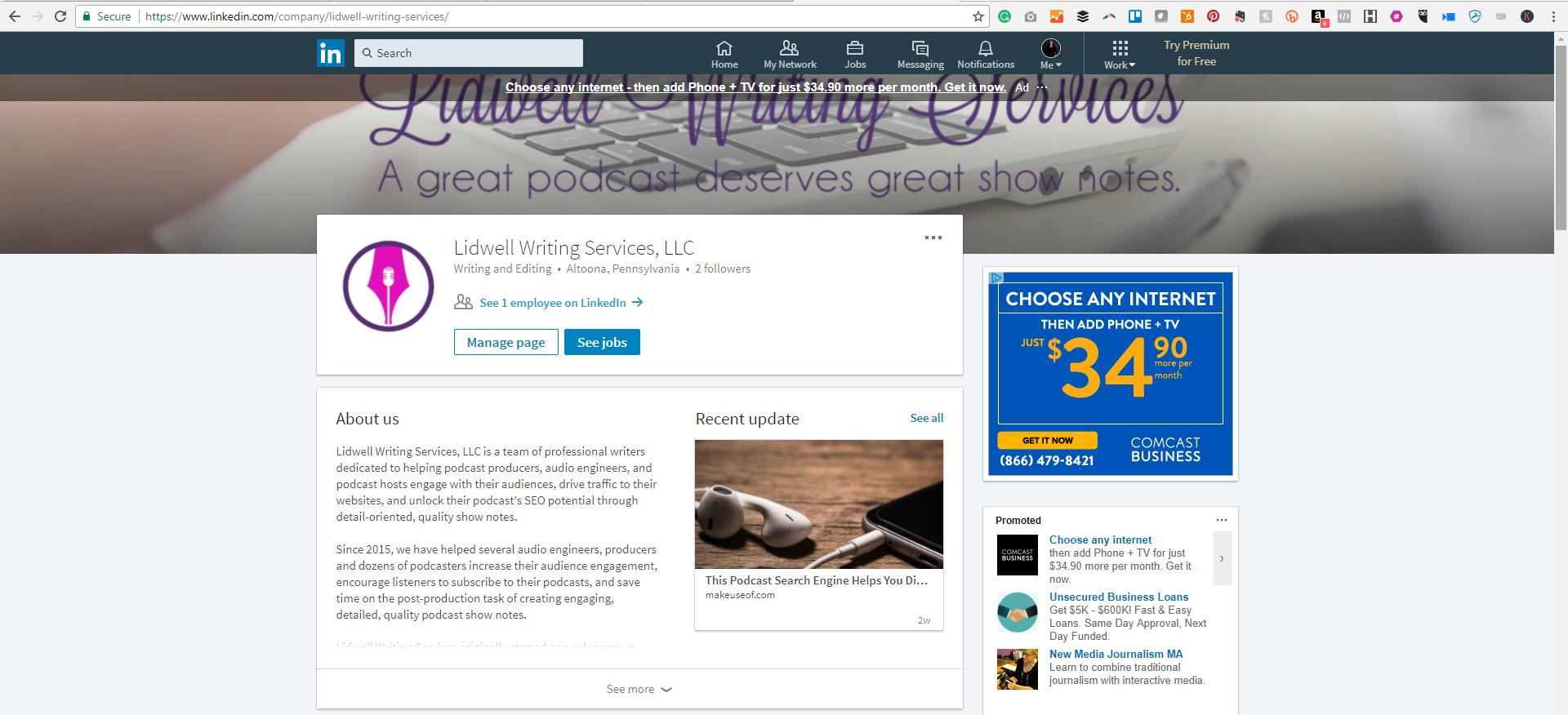 LinkedIn Company Page Screenshot.png