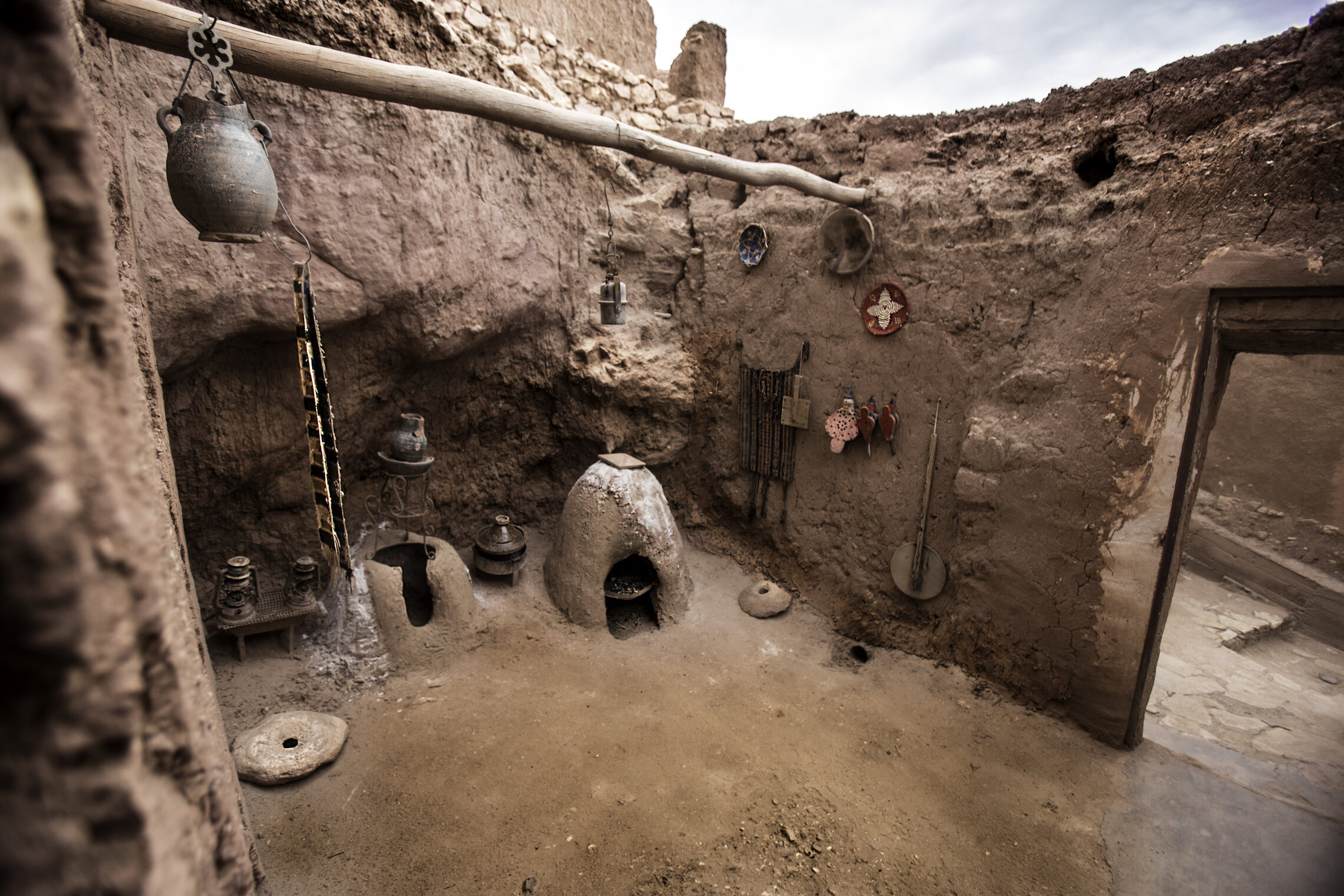 A Local Kitchen on site at Ksar Aït-Ben-Haddou.