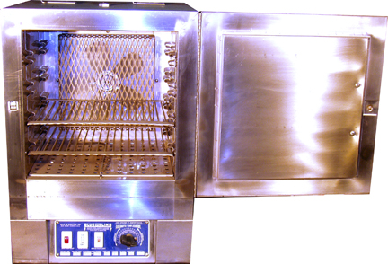 Blue Line Batch Oven Open