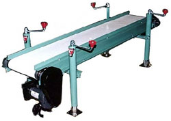 Example of flat conveyor with   optional silicone belt