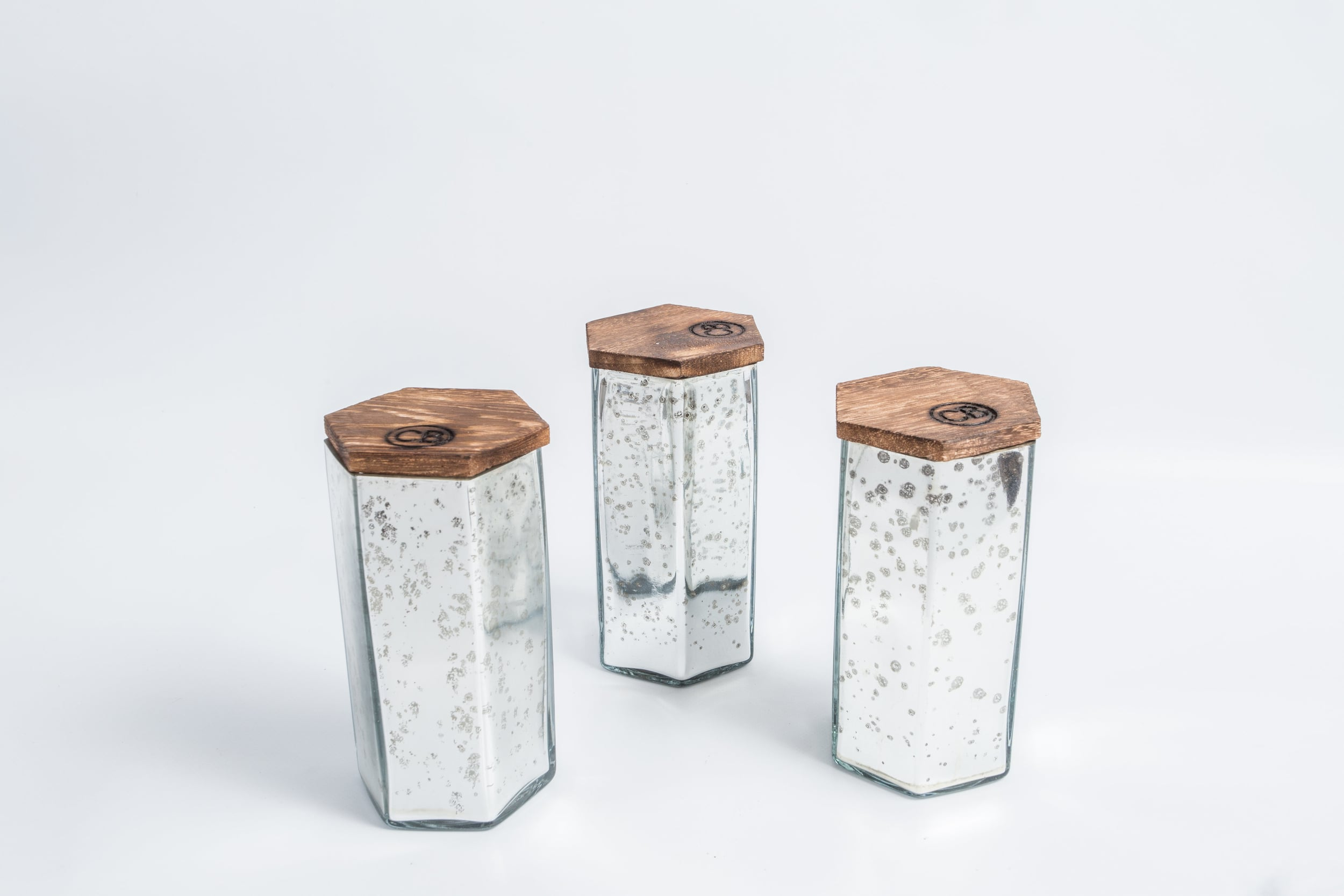 17 oz.MERCURY GLASS CANDLE