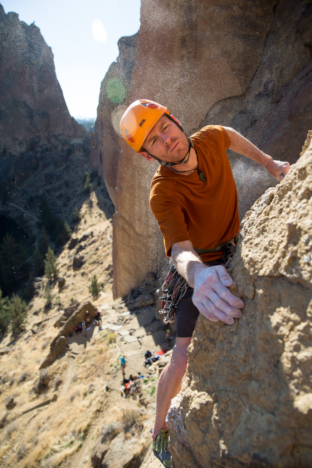 Trad climbing. Smith Rock, OR