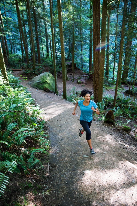 Trail running. North Cascades,WA