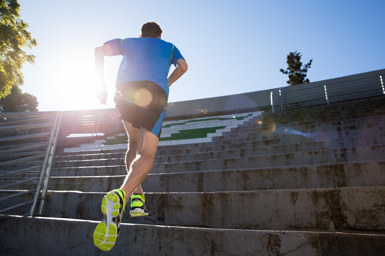 Running stairs. Green Lake, WA