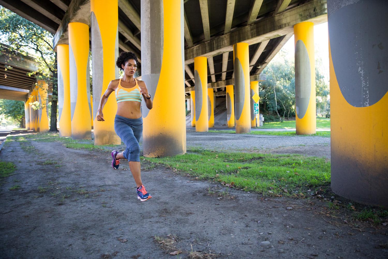 Urban running. Seattle, WA