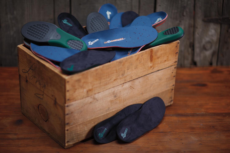 Product photography shot in studio: Danner comfort in-soles.