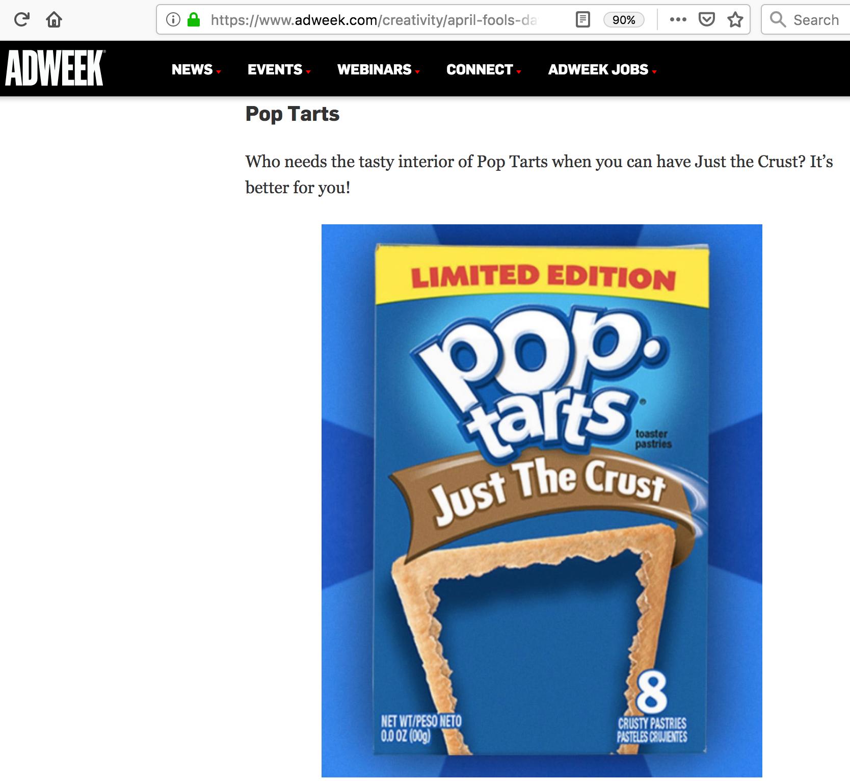 Pop-Tarts : AdWeek
