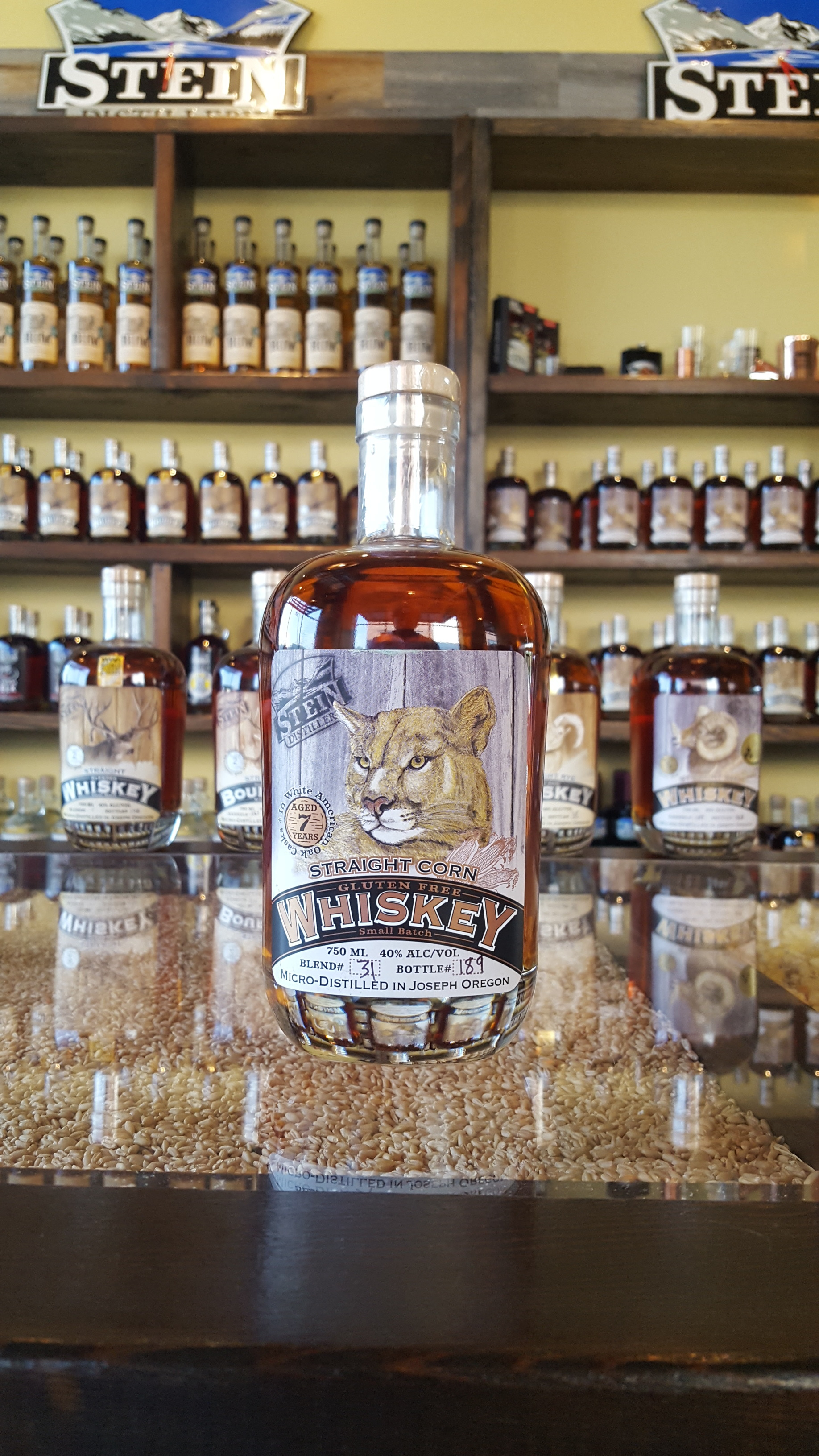 7yr Straight Cougar Corn Whiskey - *Limited Release - Exclusive to the tasting rooms. Only 70 bottles left.OLCC Code: 4543B
