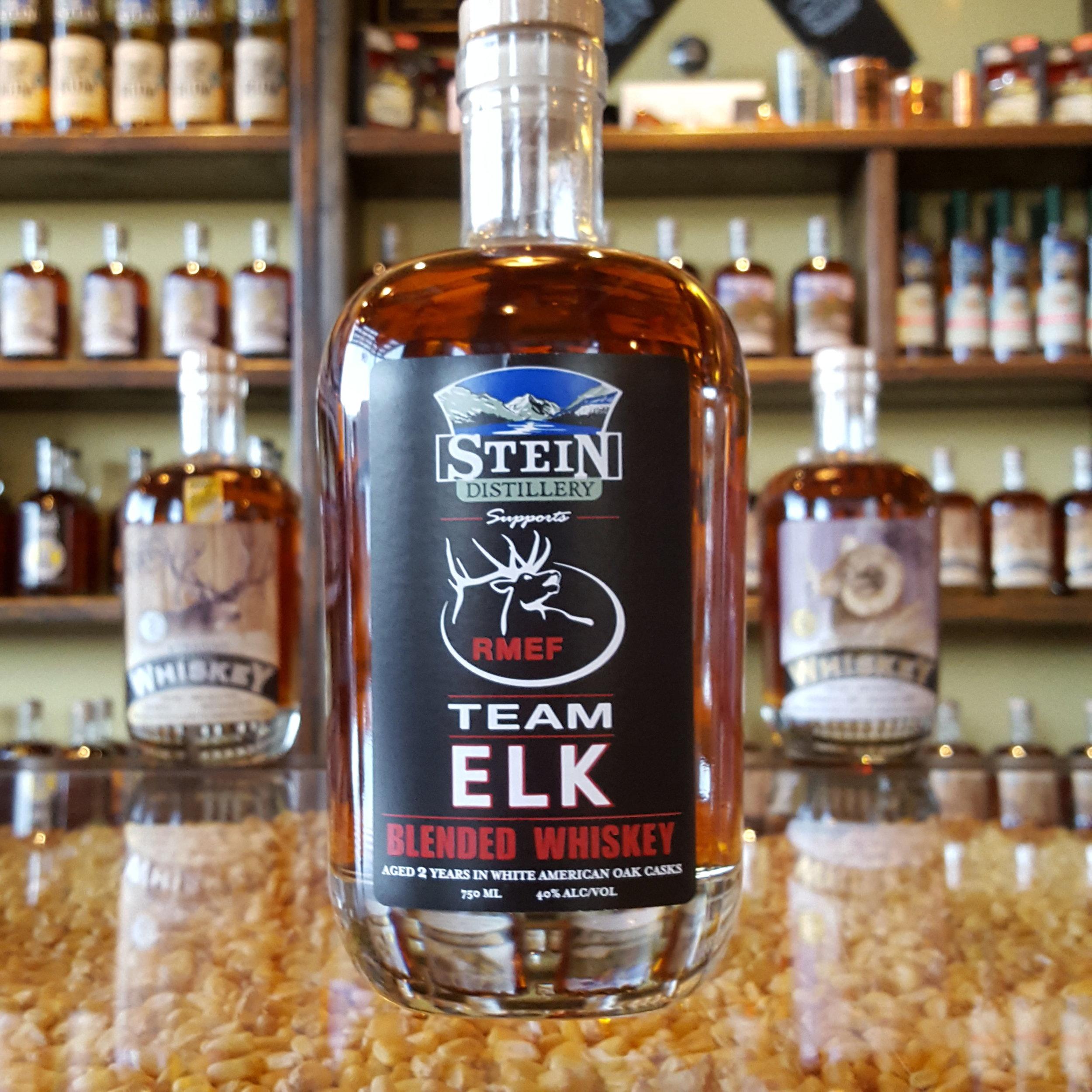 2yr Straight Blended Team Elk Whiskey - OLCC Code: 2626B