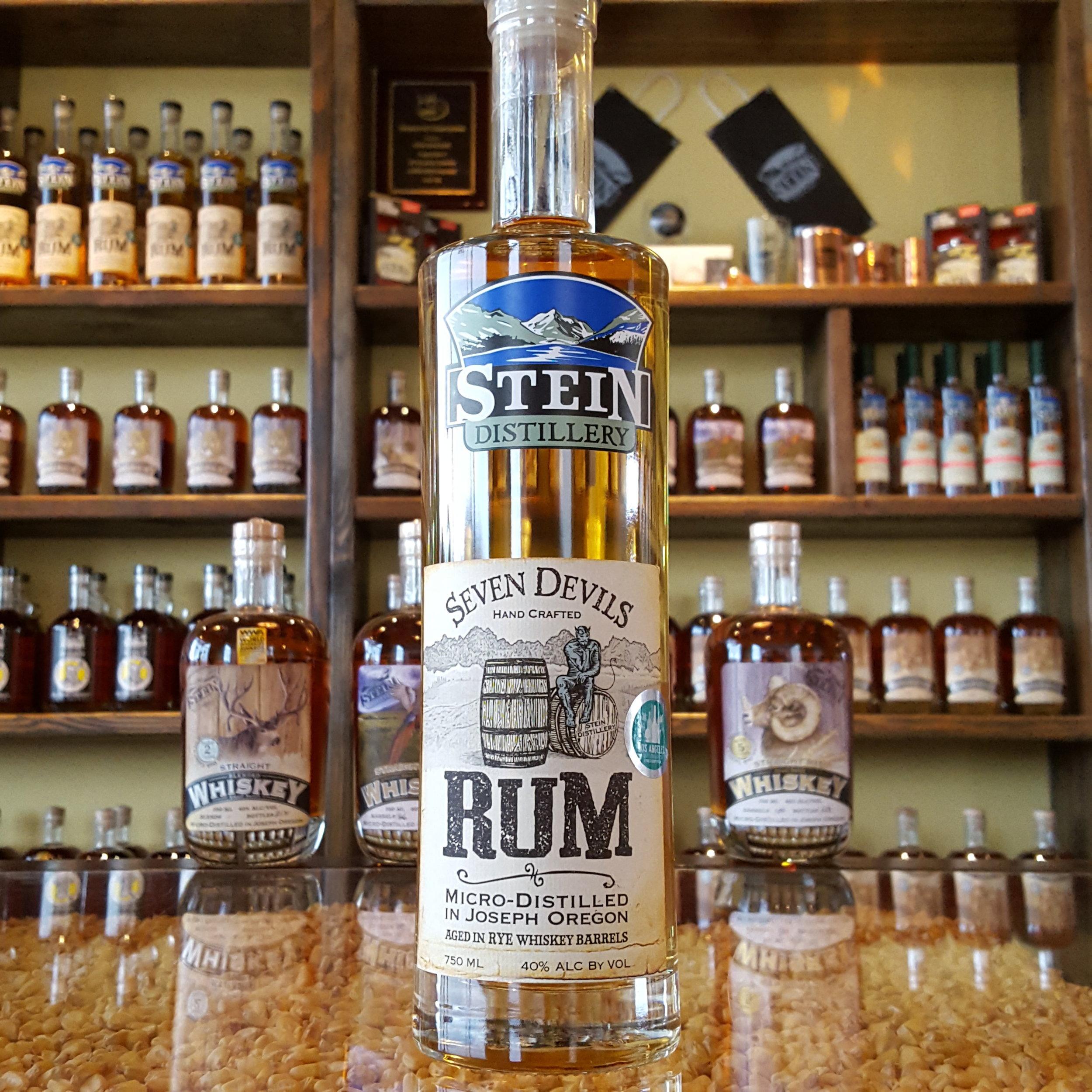 Seven Devils Rum Aged in Rye Whiskey Barrels - OLCC Code: 2015B