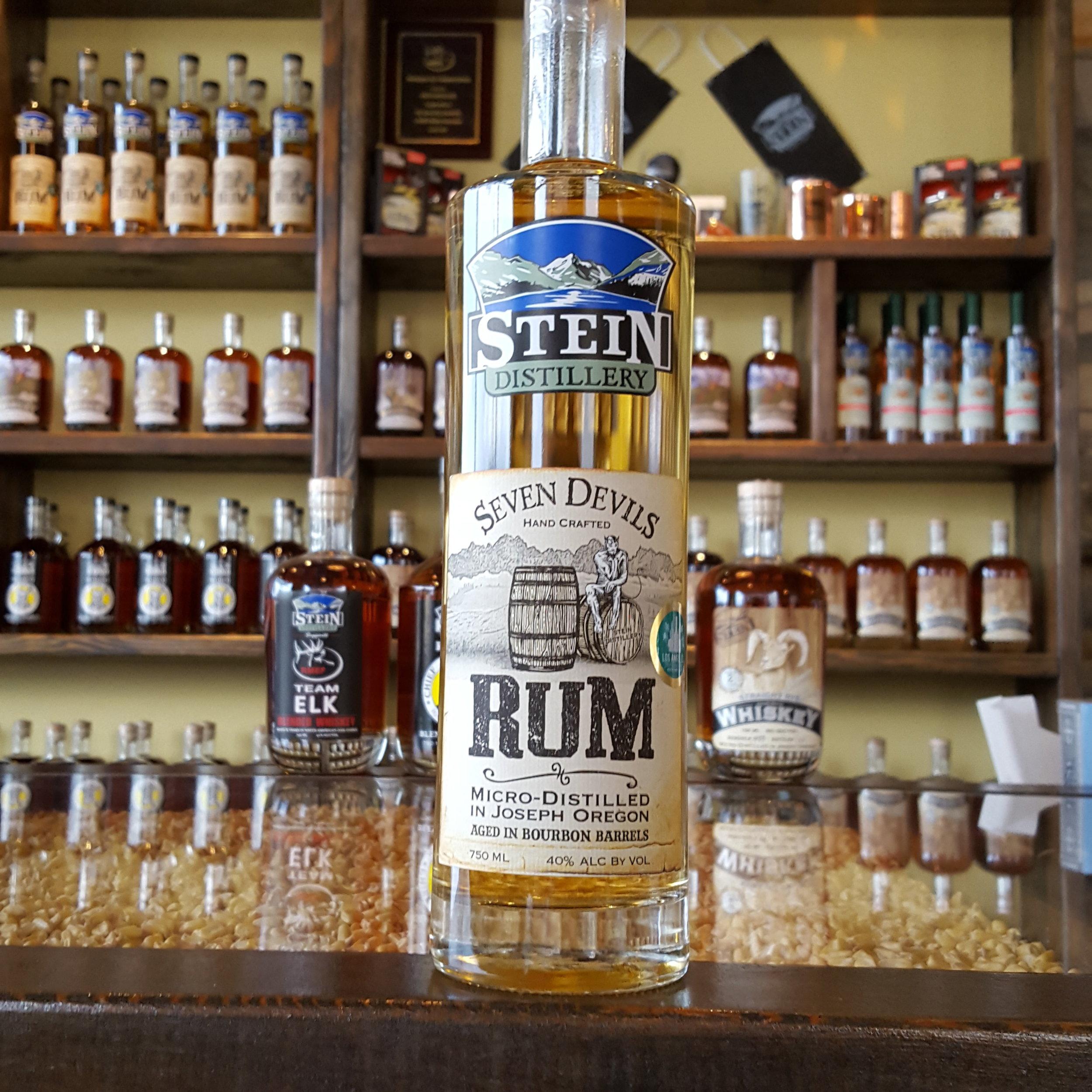 Seven Devils Rum Aged in Bourbon Barrels - OLCC Code: 2013B