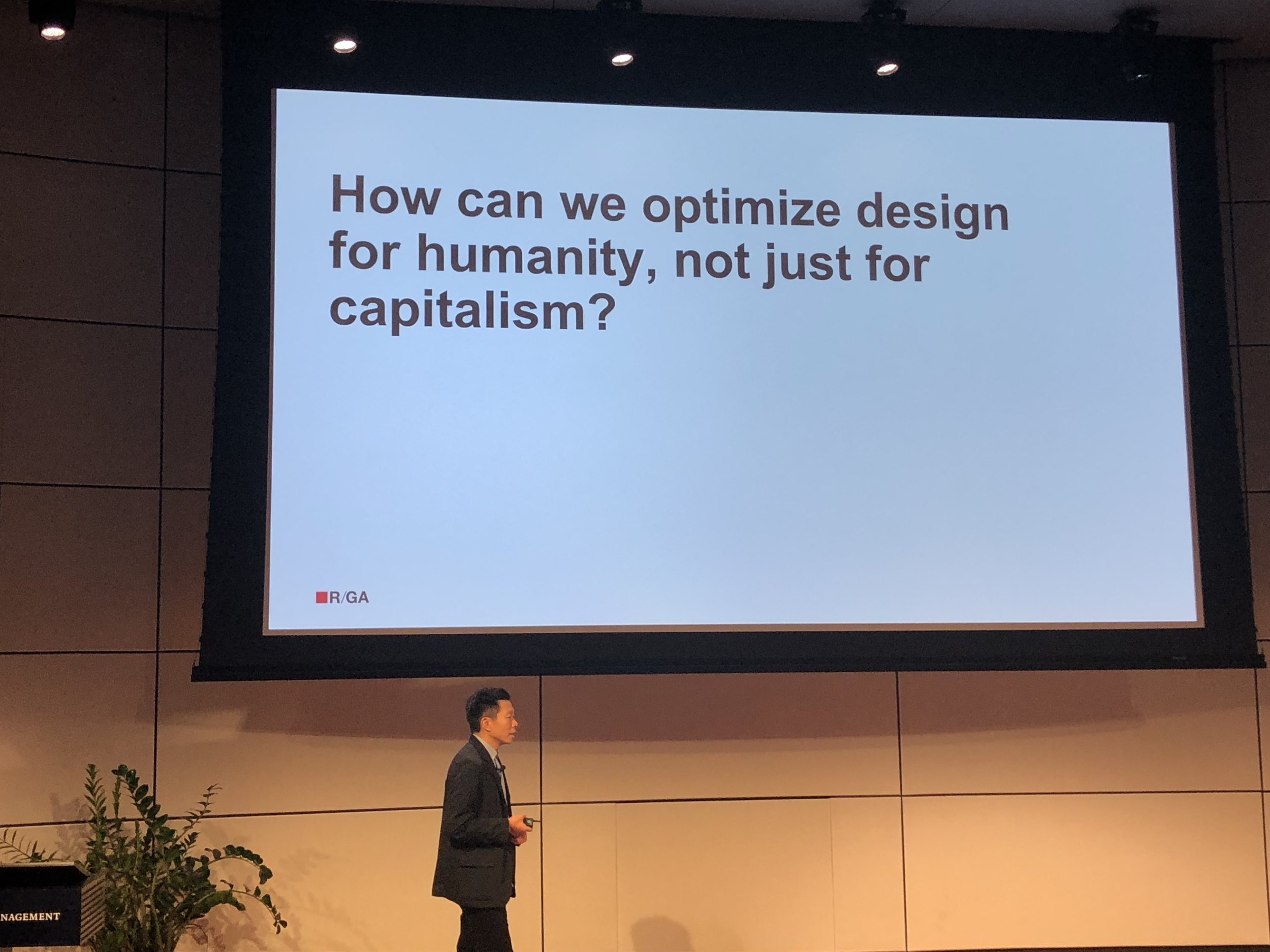 Richard Ting at the Design Observer Conference at Yale SOM in 2018