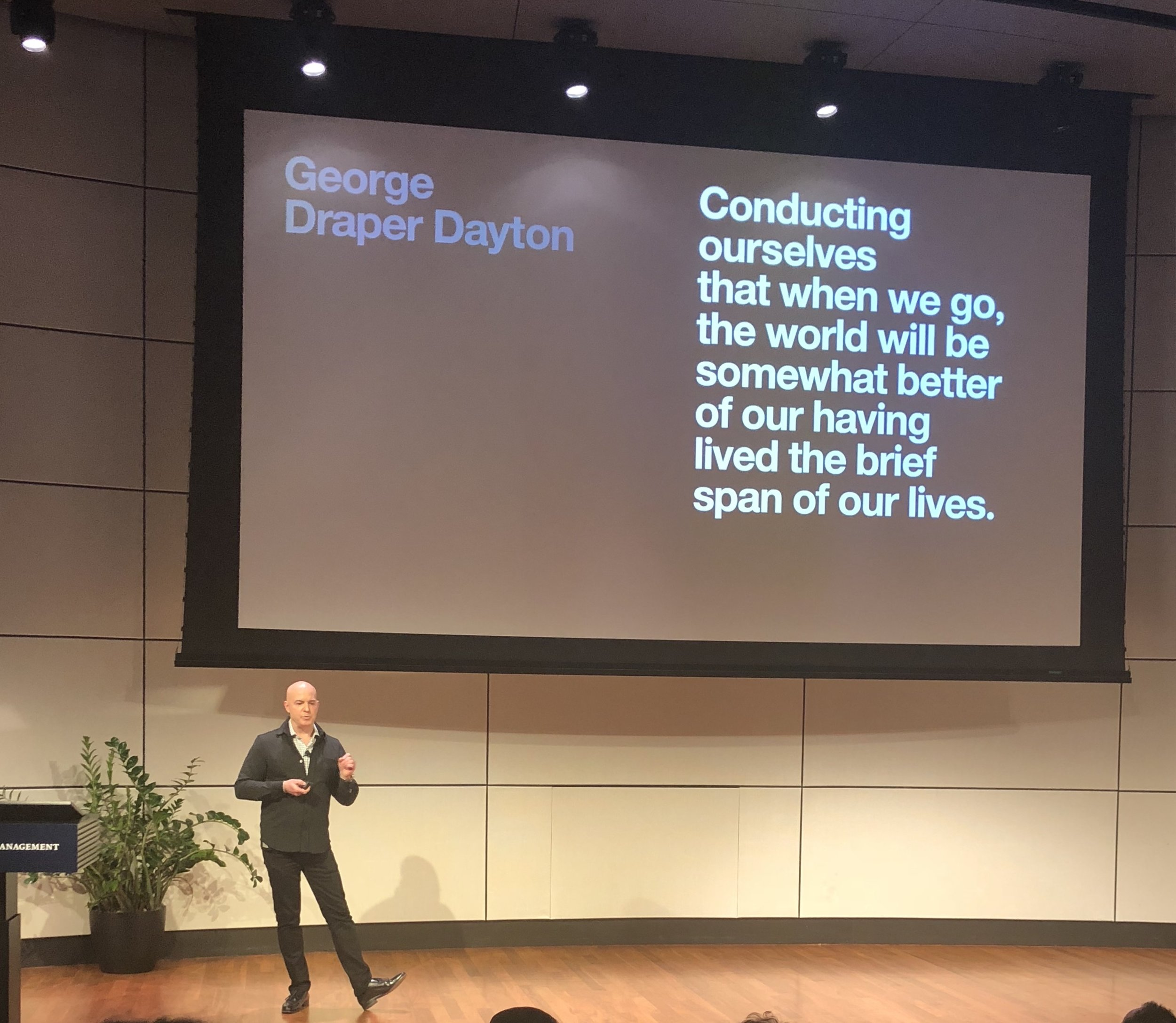 Todd Waterbury, Chief Creative Officer of Target, at the Design Observer Conference at Yale SOM in 2018