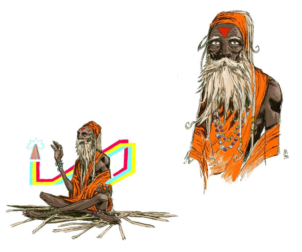 Sadhu character design