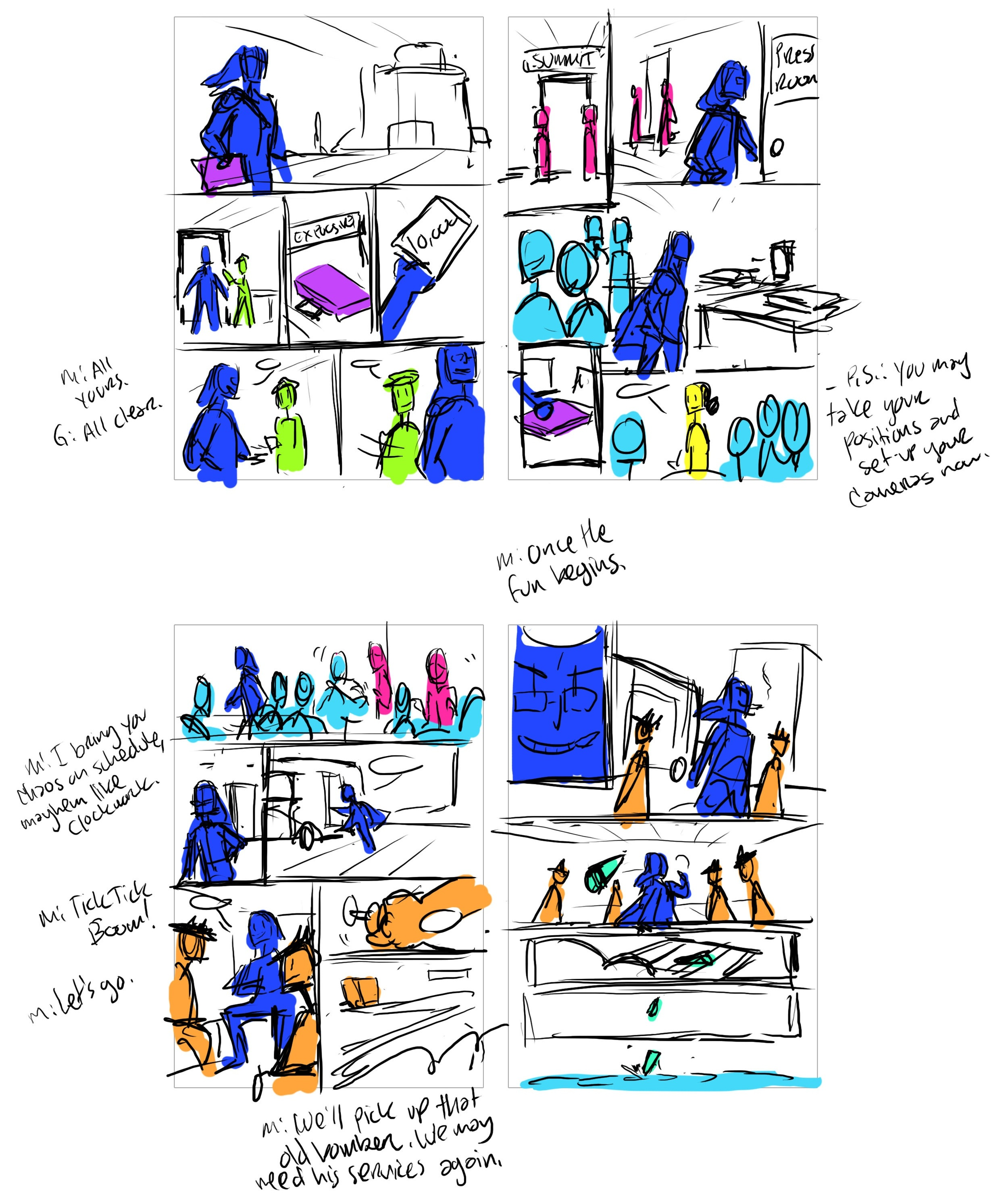 Thumbnail sketches of pages 13-16