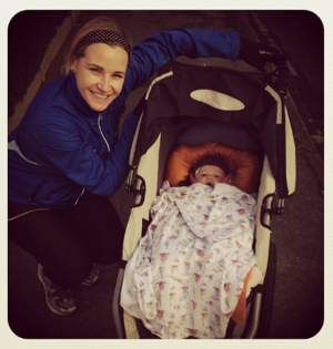 My first ever buggy run with Lila!