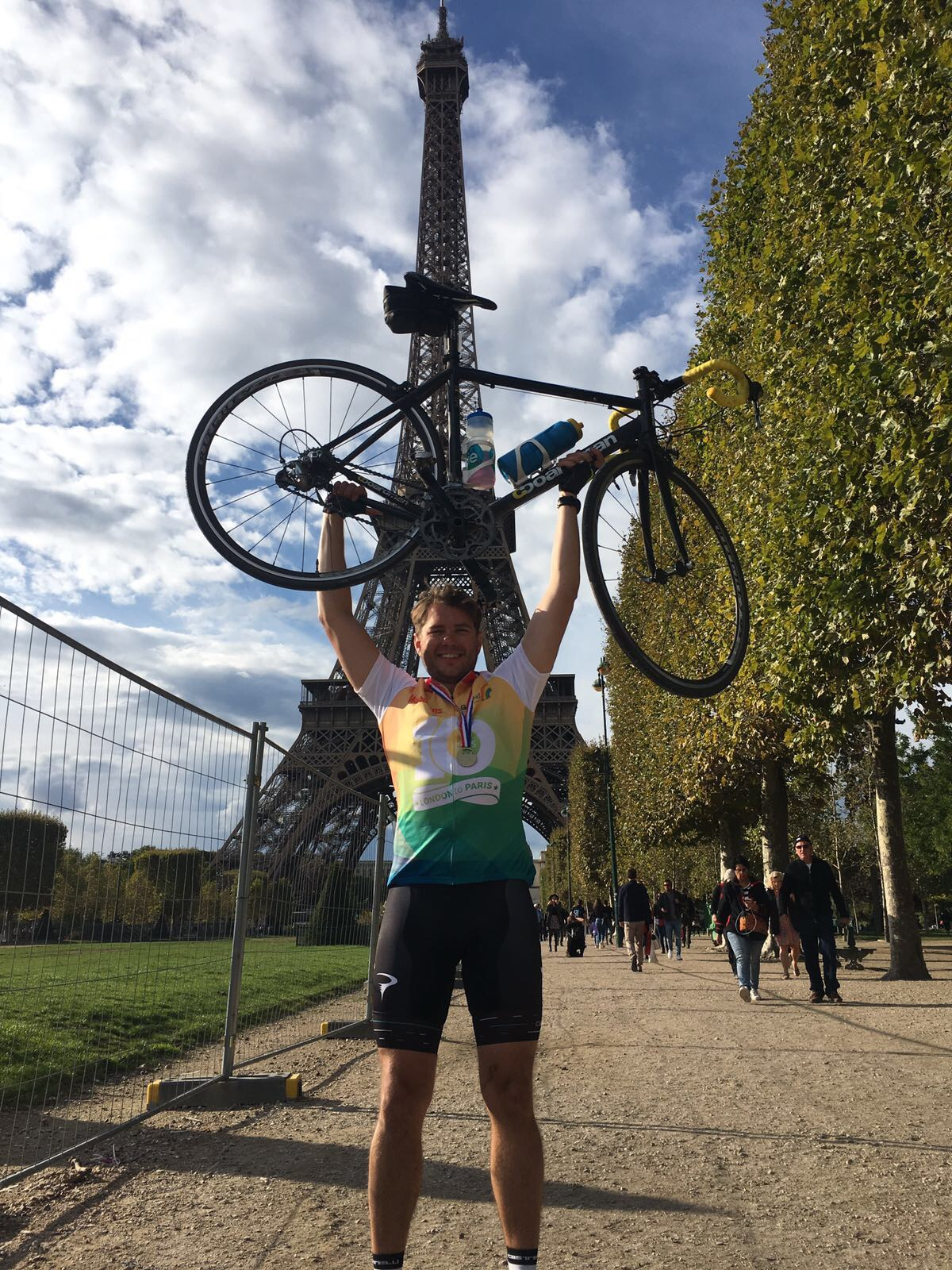 Johnny recently cycled to Paris (to escape?!)