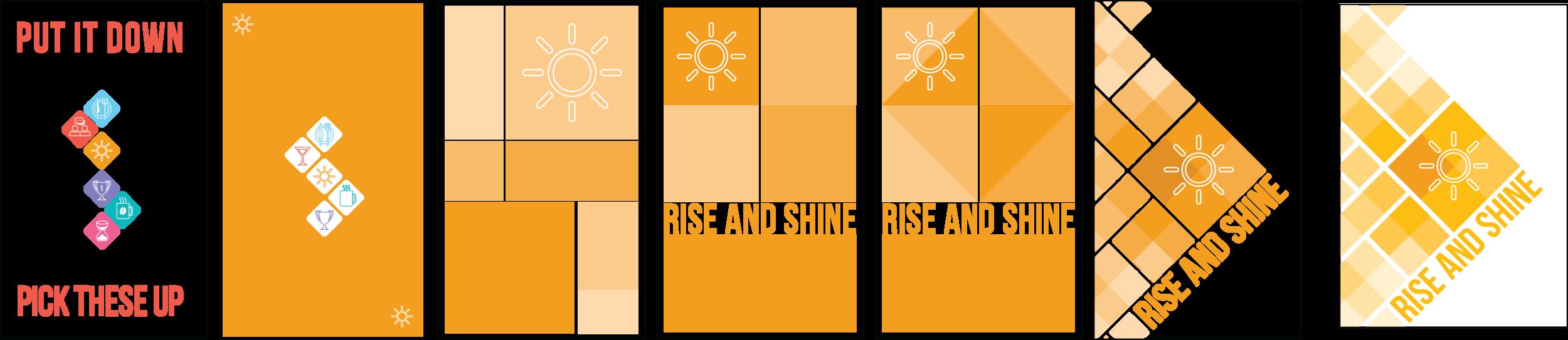 Visual design progress (front side)