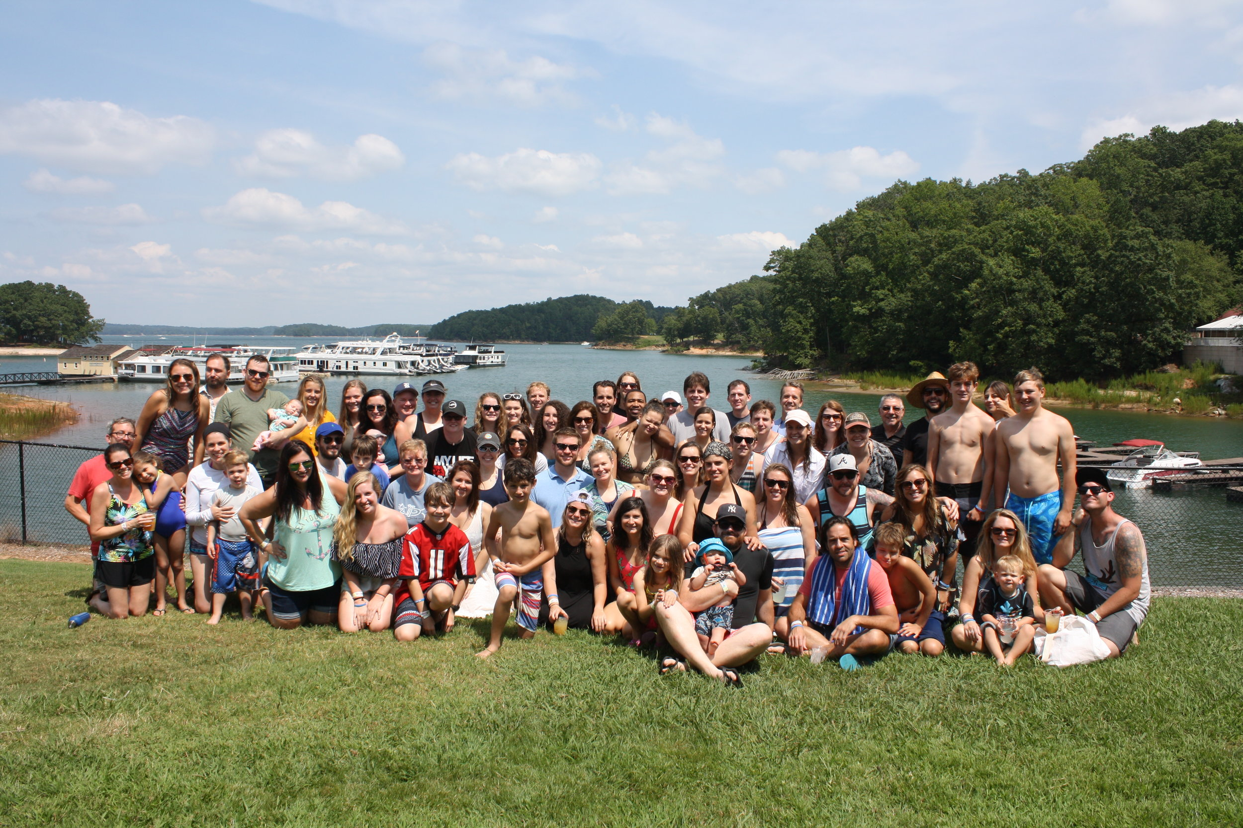 The SXM Staff and their families on 'Family Day'