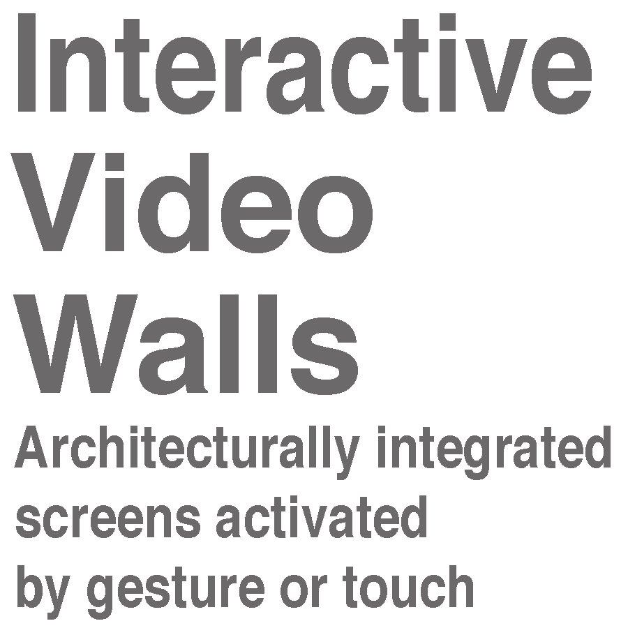 INTERACTIVE VIDEO WALLS