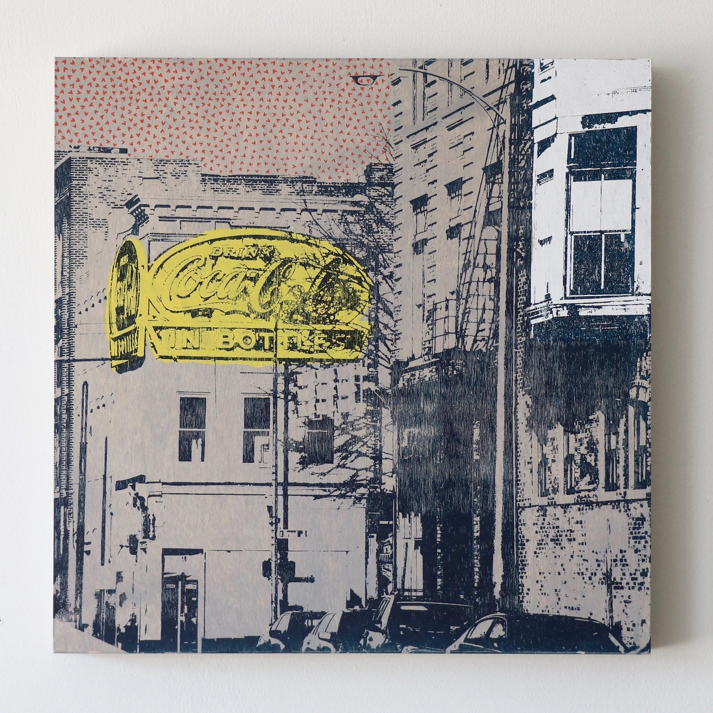 "Urban Architecture  16"" x 16""  Sold"