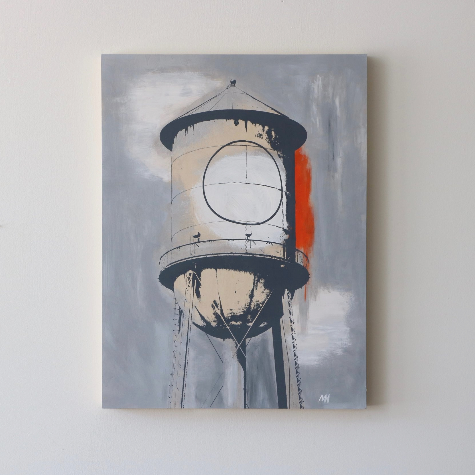 """Water Tower I  18"""" x 24""""  Sold"""
