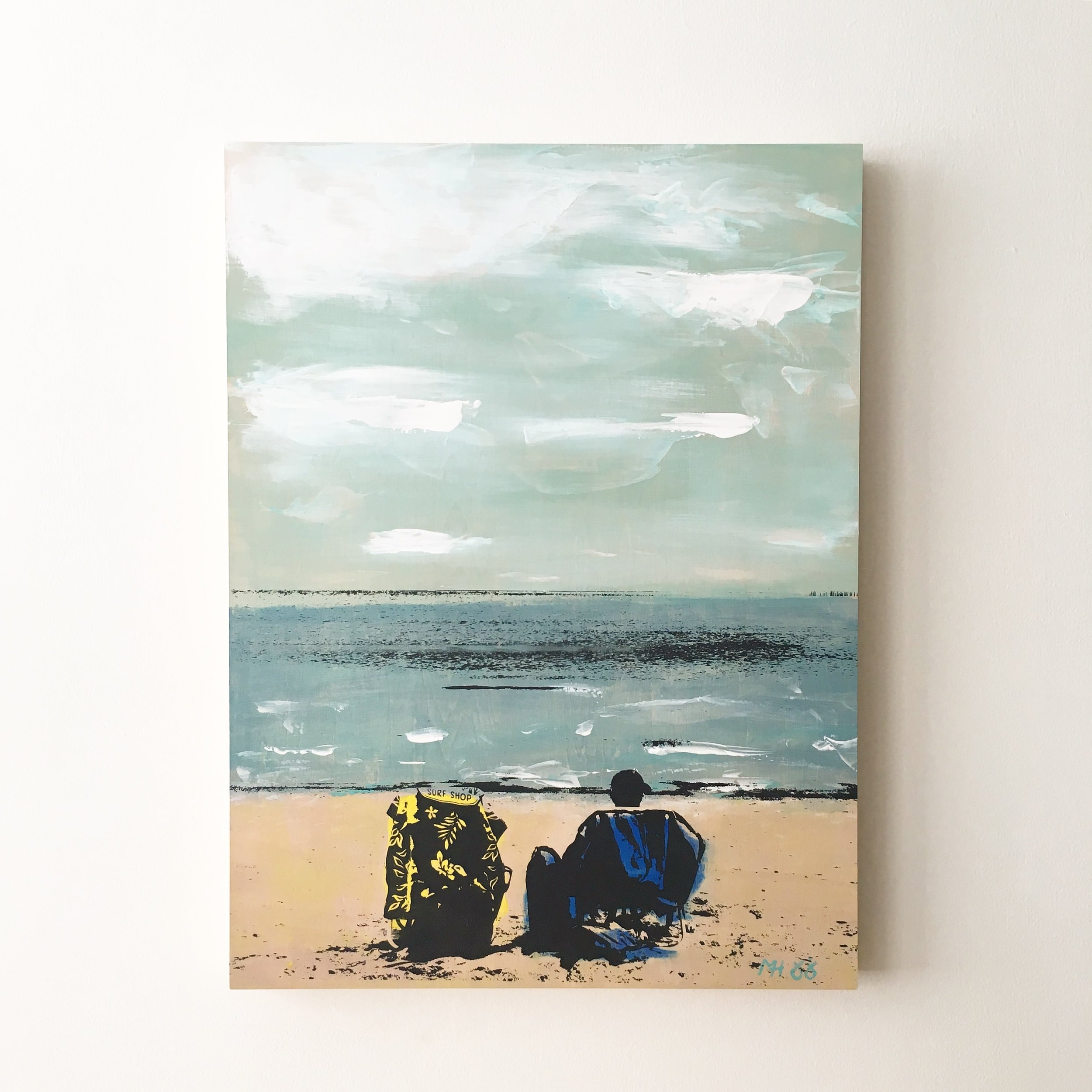 """A Day at Chic's Beach  18"""" x 24"""""""