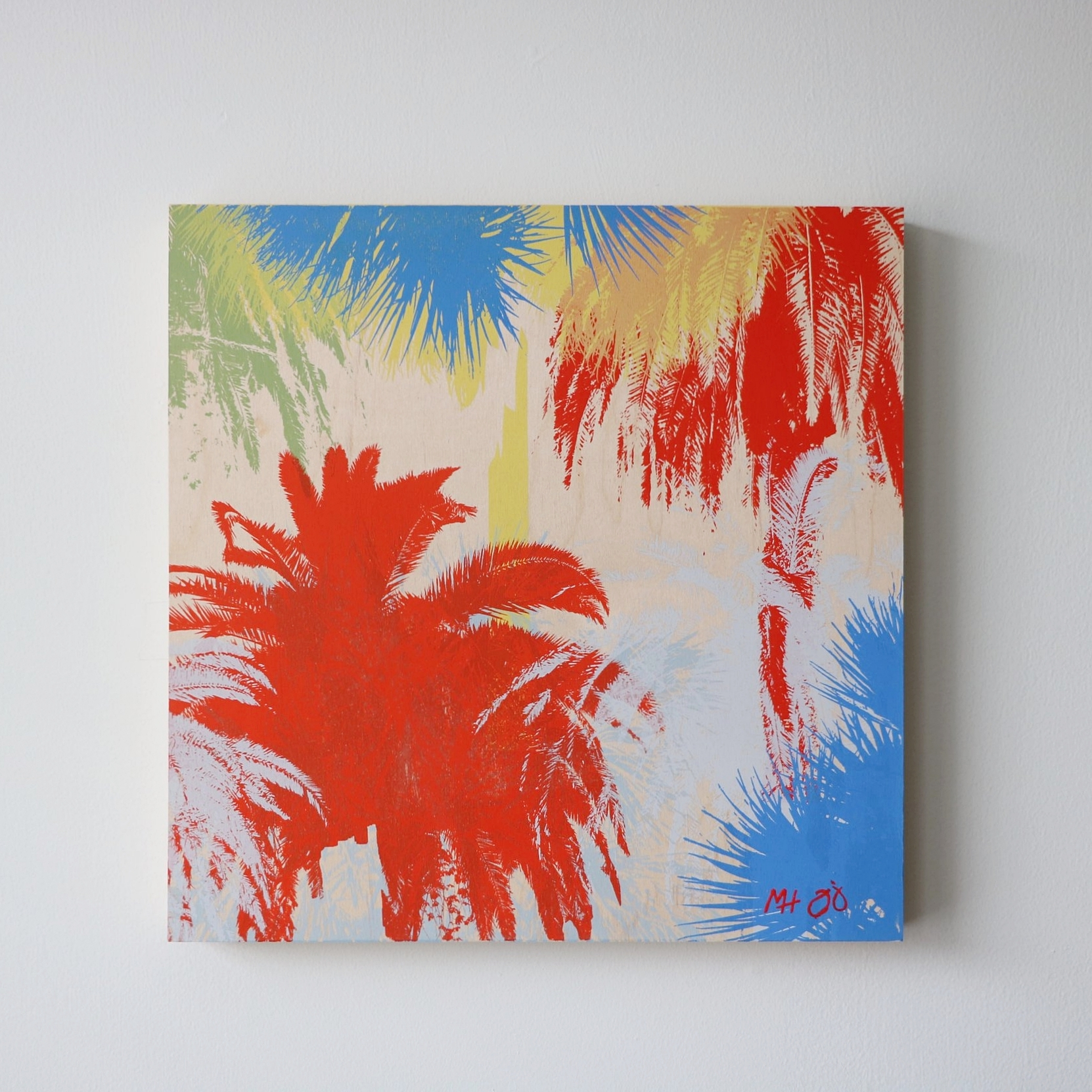 "Palm Trees II  16"" x 16"""