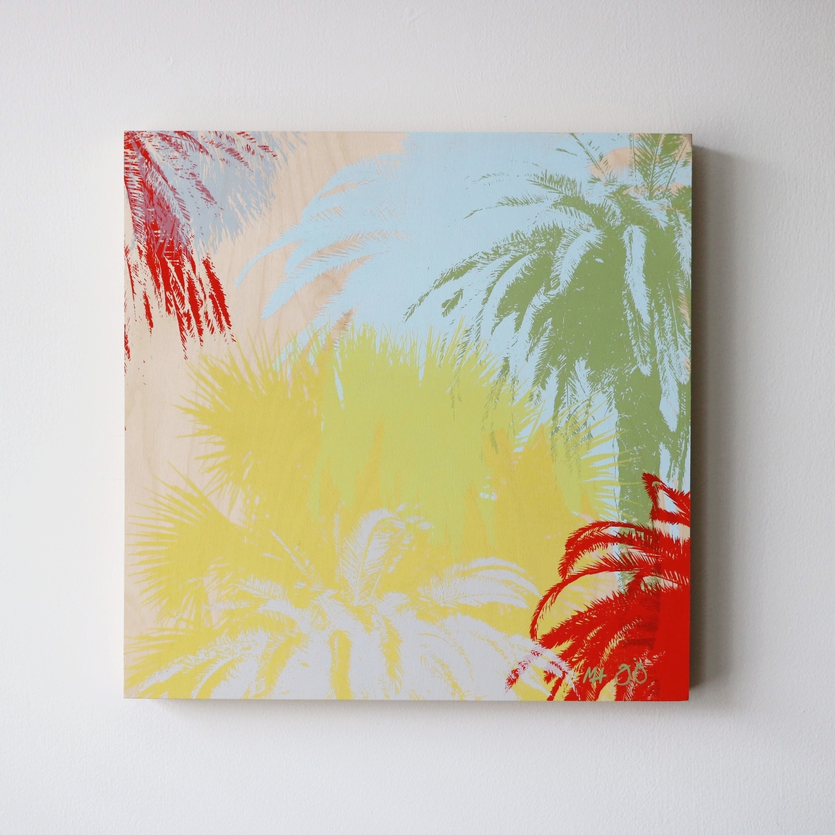 """Palm Trees I  16"""" x 16""""  Sold"""