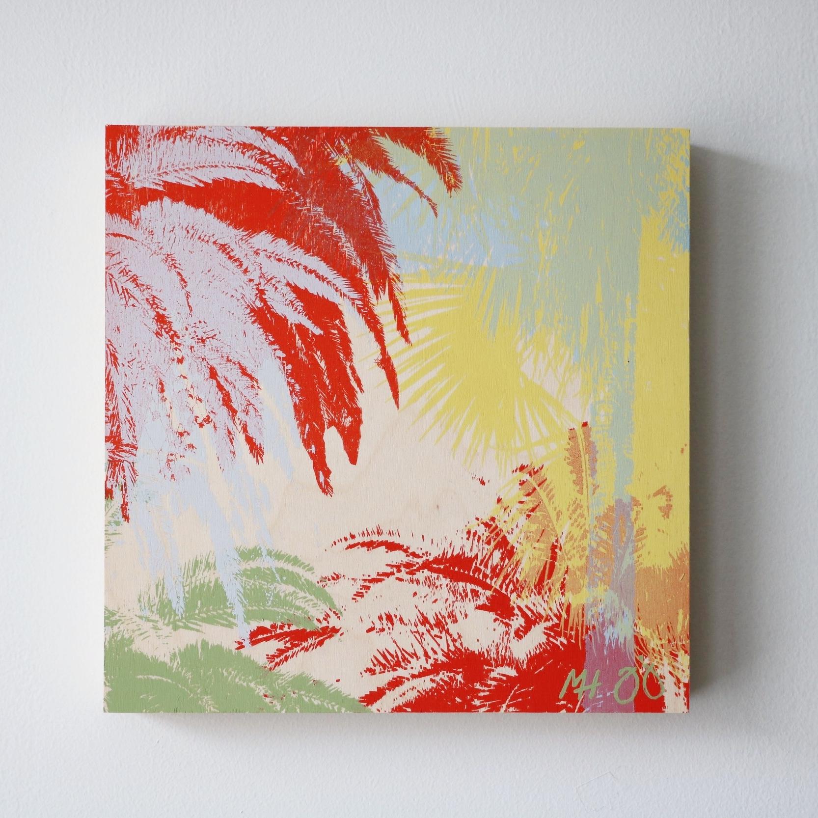 """Palm Trees III  10"""" x 10"""""""