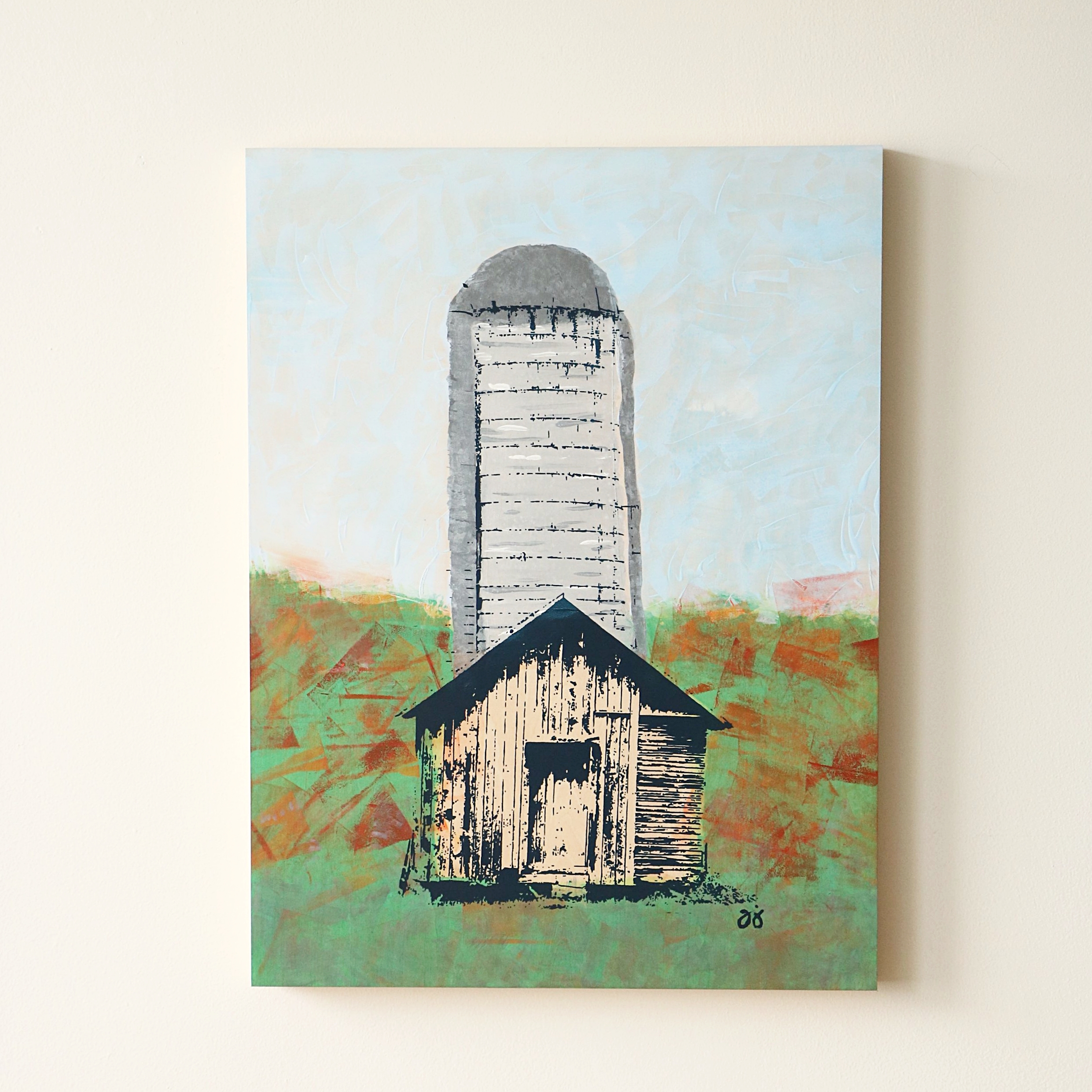 """Barn/Silo  18"""" x 24""""  Not currently available"""