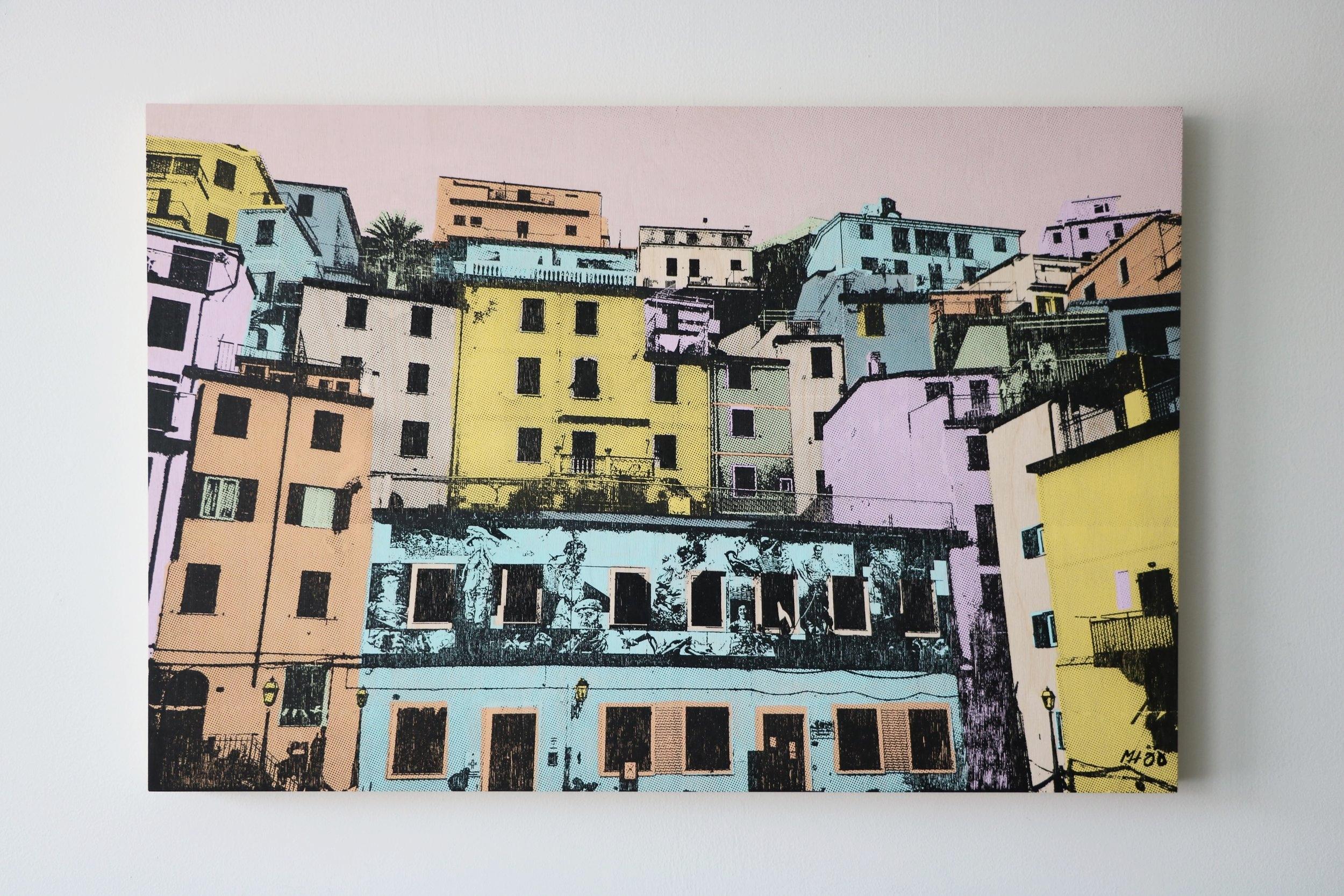 """Riomaggiore, Italy II  30"""" x 20""""  Sold"""