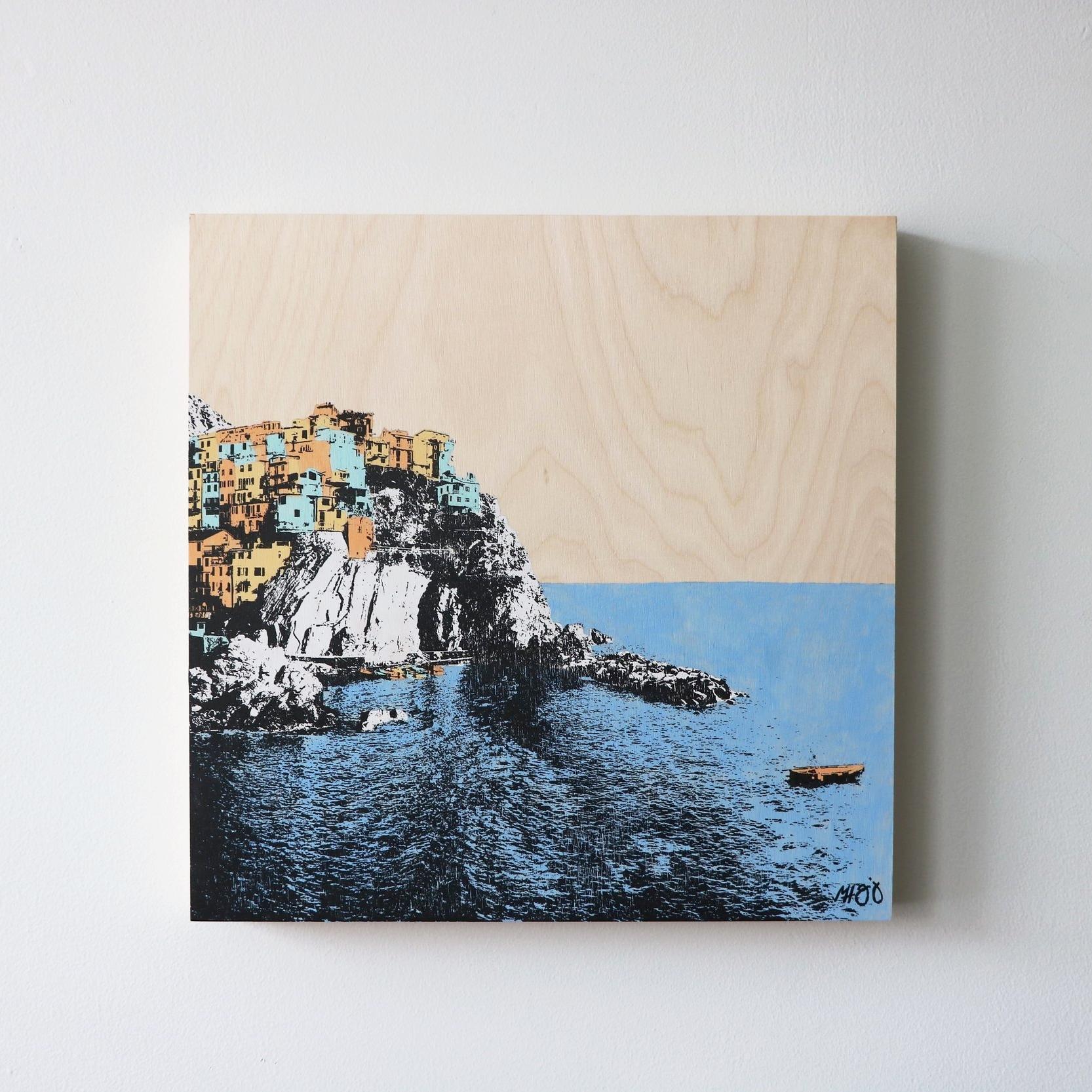 """Manarola, Italy II  16"""" x 16""""  Sold"""