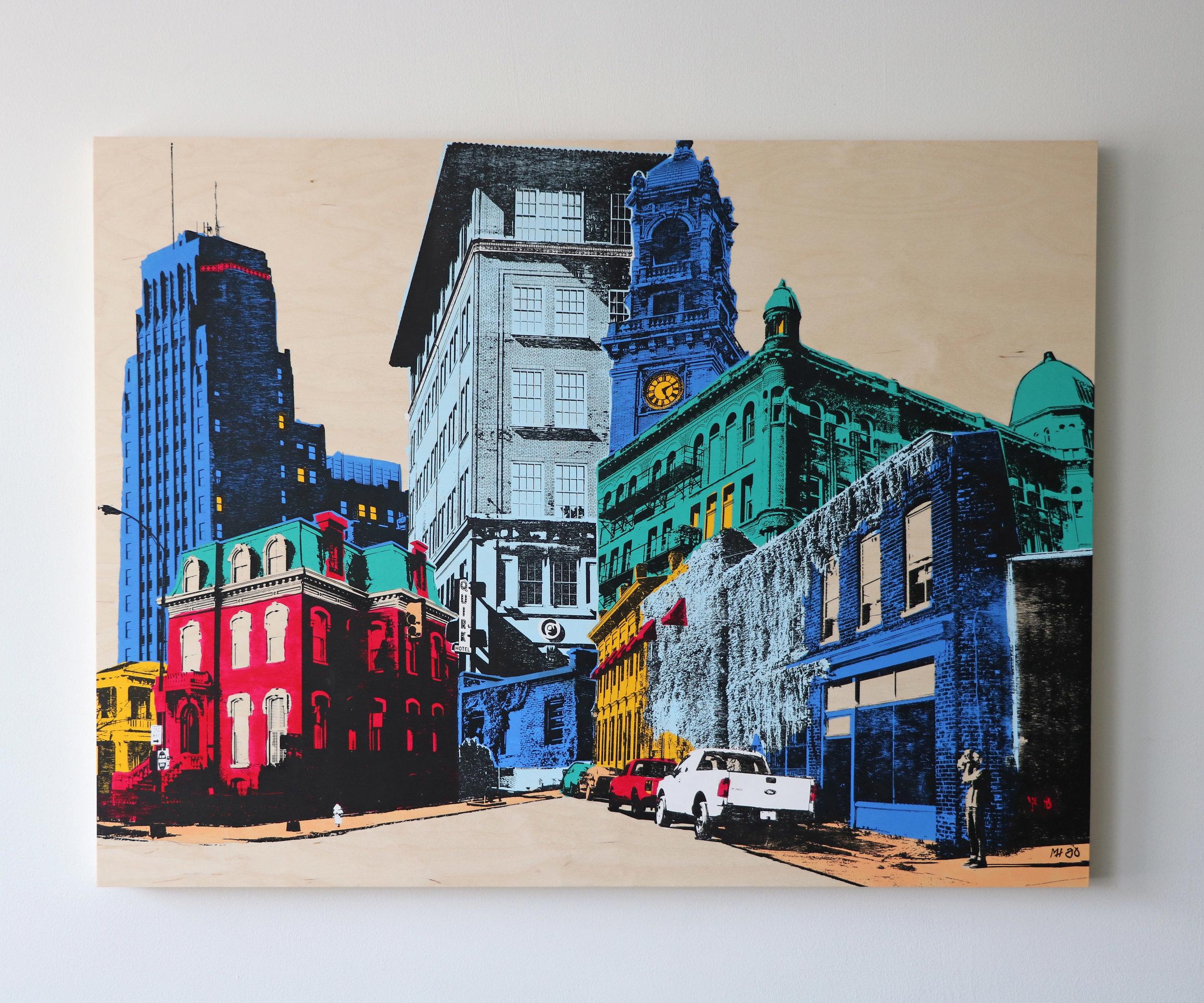 """Cityscape I  40"""" x 30""""  Sold"""