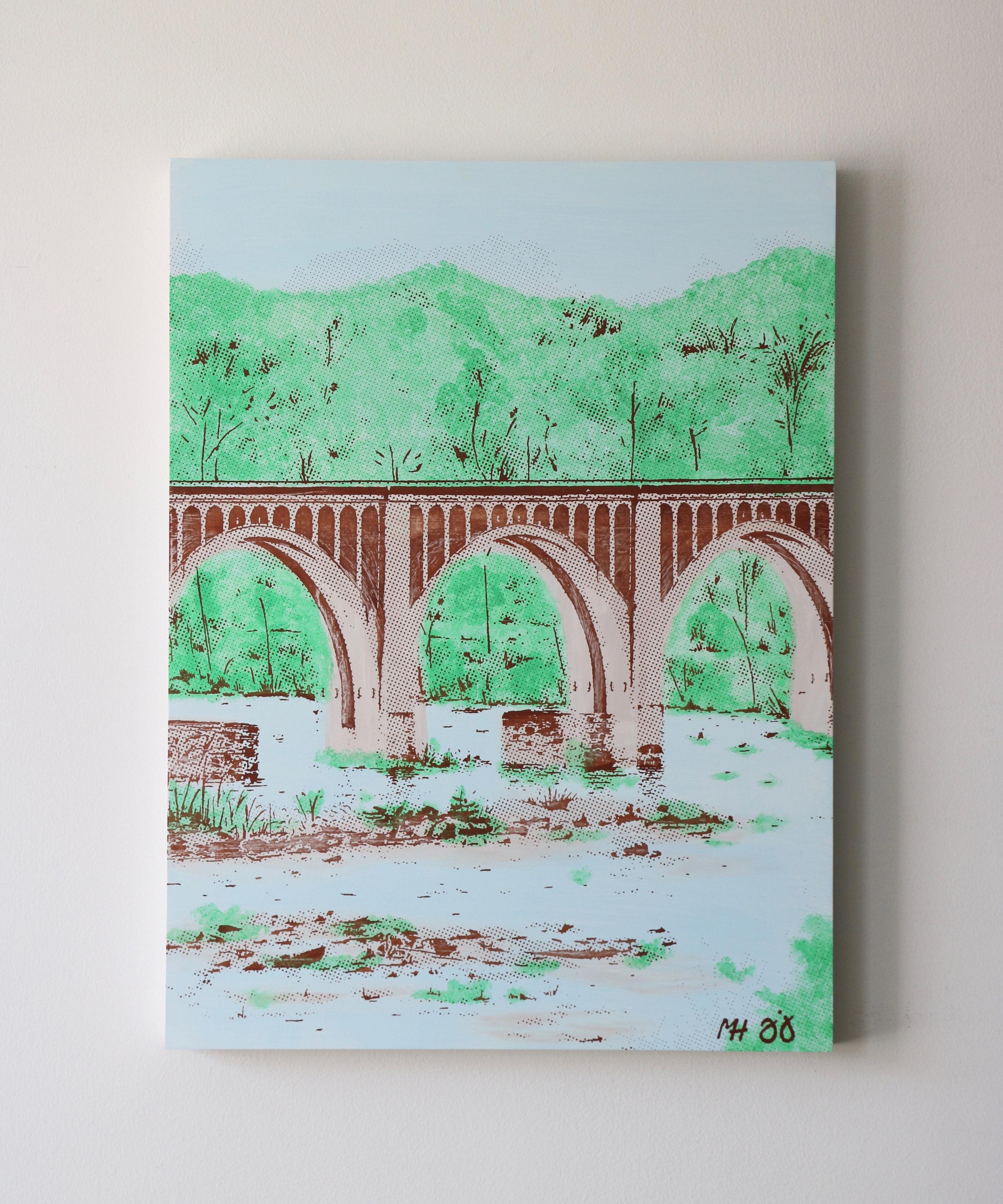 """CSX Bridge I  18"""" x 24""""  Sold"""
