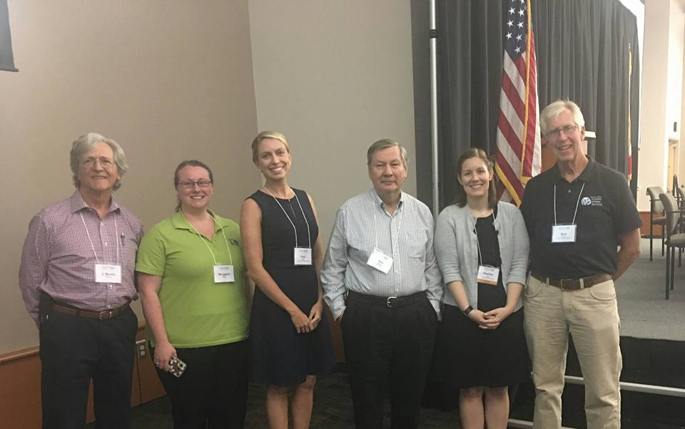 LWVOC's Marty Sullivan; CEJ's Margaret Stewart, Traci Deen, & Rob Williams; Florida Springs Institute's Heather Obara & Dr. Robert Knight