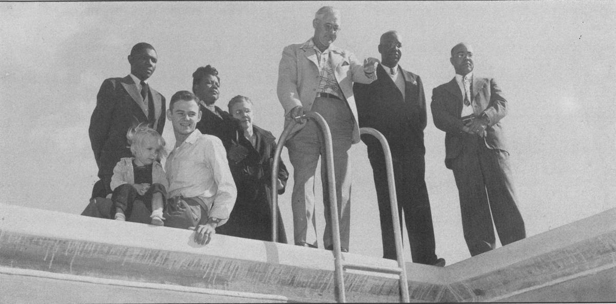 """'FOR…THE COLORED PEOPLE' — In 1954, a swimming pool was constructed at the Chisholm Center for the """"exclusive use of the colored people,"""" according to the 1949 resolution by the City of Deland. A donor offered to contribute $5,000 toward the $6,500 cost of the 40-foot-by-80-foot pool at the corner of South Clara and West Hubbard avenues, where the Chisholm Community Center (and its modern, integrated swimming pool) is not located.   Photo courtesy West Volusia Historical Society"""