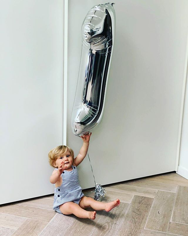 This is 1! I have a feeling that this baby is always going to be reaching. Happy birthday baby boy, you are loved for your beautiful sunny disposition #albalucaandgrey #babygrey #grey #interiordesign #design @maxibobina thank you for the outfit x