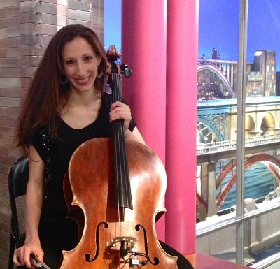 Allison Seidner - CelloBorn and raised in NYC, Allison Seidner has enjoyed touring for most of the last decade. Since returning home, she has performed on stage at venues from Birdland to Carnegie Hall, below stage for numerous Broadway productions, and on screen for television appearances including Late Night with David Letterman, Good Morning America, and The 2013 Tony Awards. Allison has collaborated with countless musical theater composers and performers, and with artists including Cyndi Lauper, Beyonce, Jay-Z, Kanye West, Natalie Maines, Clay Aiken, and Andrea Bocelli. Original Broadway Shows: Kinky Boots, The Addams Family, The Book of Mormon (cast recording). National/International Tours: The King & I, Jekyll & Hyde, The Music Man, Miss Saigon, AIDA. Allison loves her Kinky Boots family and is thrilled to make music with such a brilliant group of people.