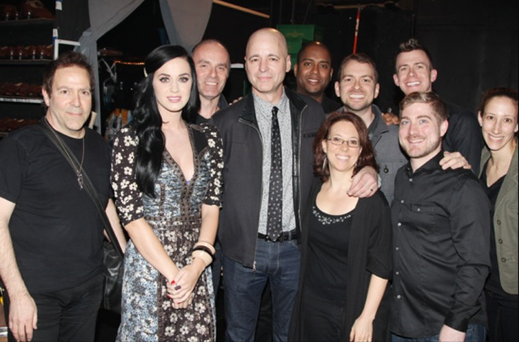 Kinky Boots band backstage with Katy Perry. Photo by Bruce Glikas