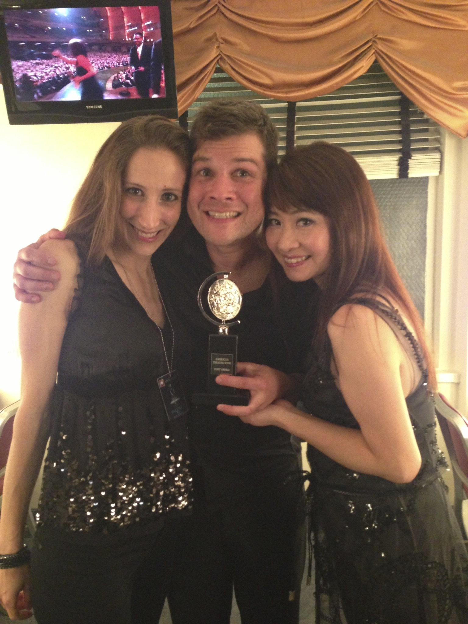 2013 Tony Awards. Hiroko and Allison backstage with Stephen Oremus after his Tony win for Best Orchestrations!