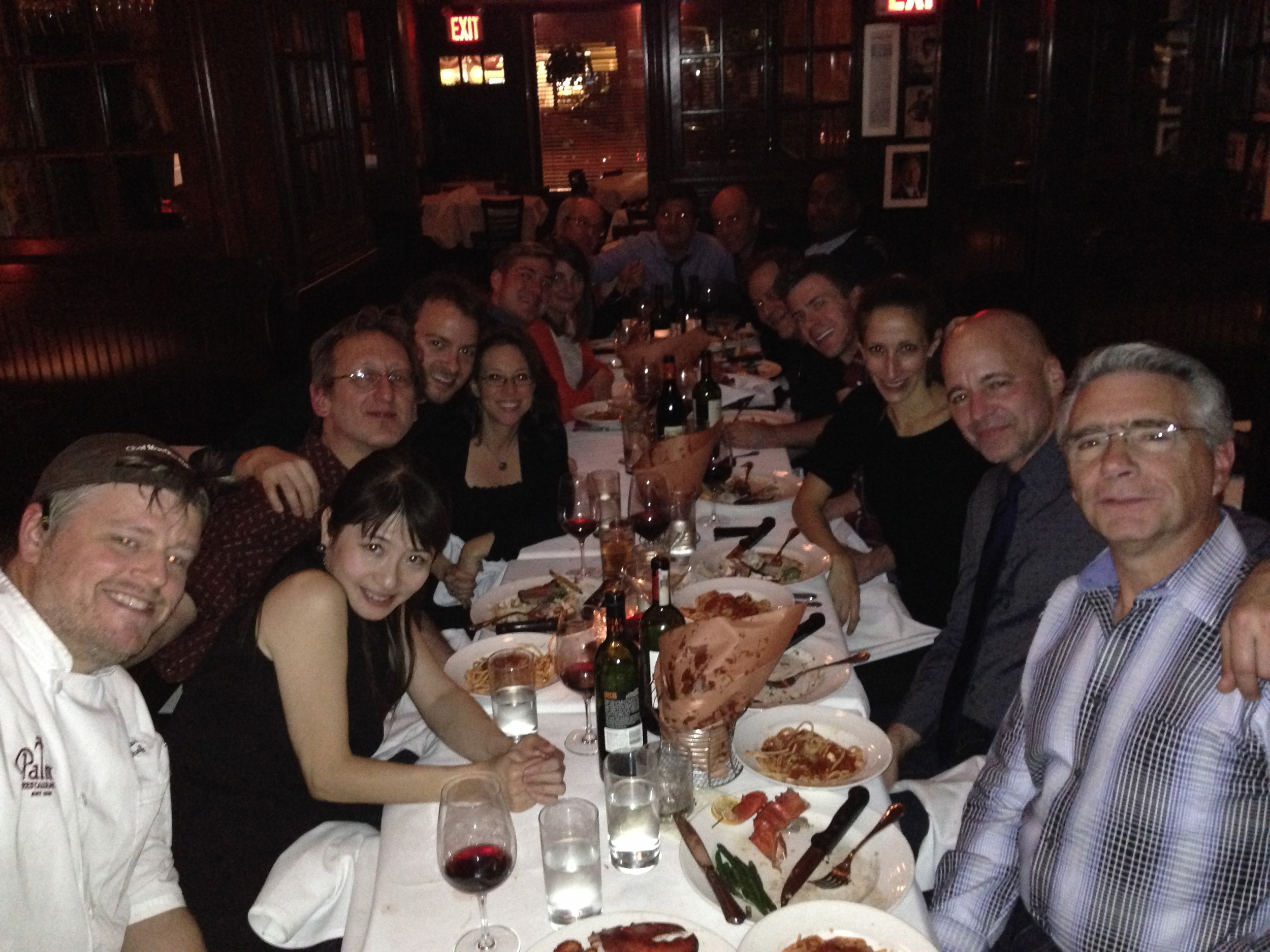 Kinky Boots band dinner at the Palm Too.