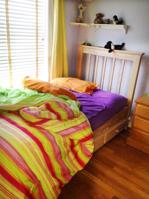 An unmade bed creates a cluttered, rumpled appearance no matter how tidy the rest of the room is