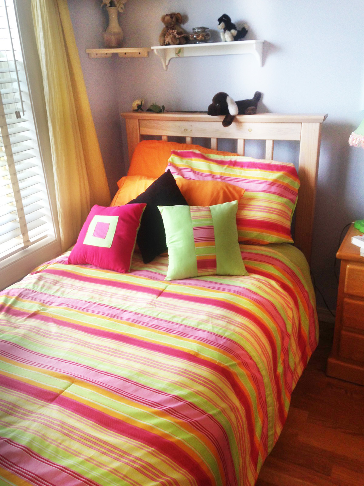 Make your bed daily to create a finished, neat look