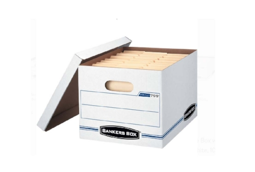 Gather sturdy stackable boxes