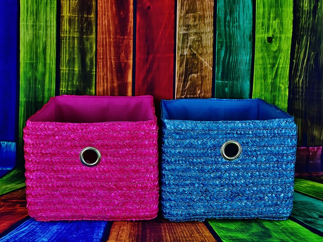 Visual creatives use fun, bright, colorful storage options. If you love it and see it, you will be more likely to use them to put things away.